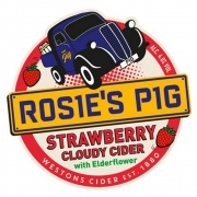 Rosie's Pig with Strawberry and Elderflower Cloudy Cider 4.0%
