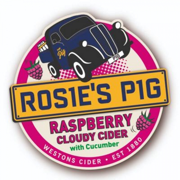 Rosie's Pig Cloudy Cider with Raspberry and Cucumber